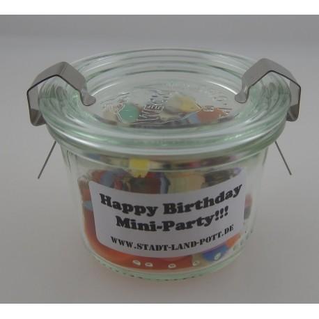 """Minigläschen """"HAPPY BIRTHDAY MINI-PARTY"""""""