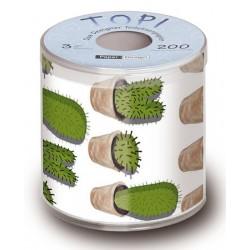Toilettenpapier mit Kaktus