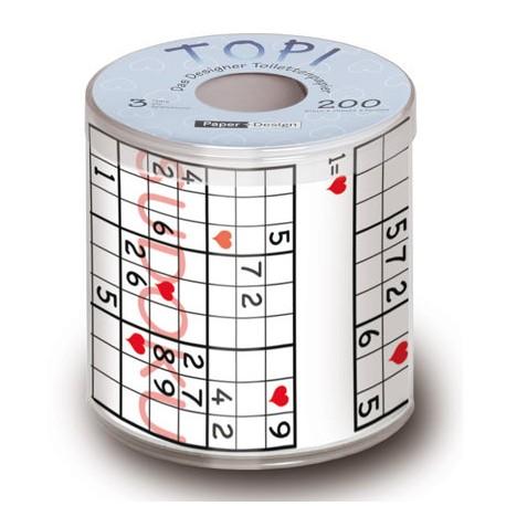 Toilettenpapier mit Sudoku